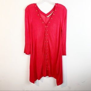 Soft Surroundings Lace Up / Tie Up Tunic Top